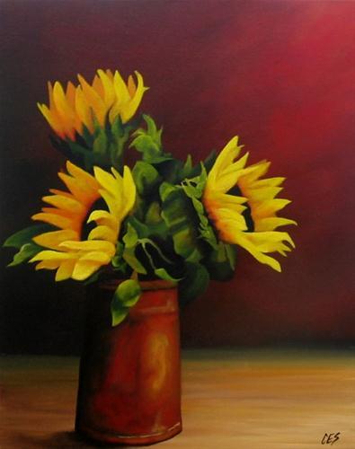 """Sunflower Bouquet"" original fine art by ~ces~ Christine E. S. Code"