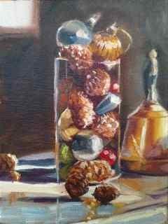 """""""Ringing in the New Year"""" original fine art by Linda Marino"""