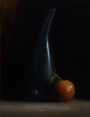 """Teardrop Vase with Clementine"" original fine art by Neil Carroll"