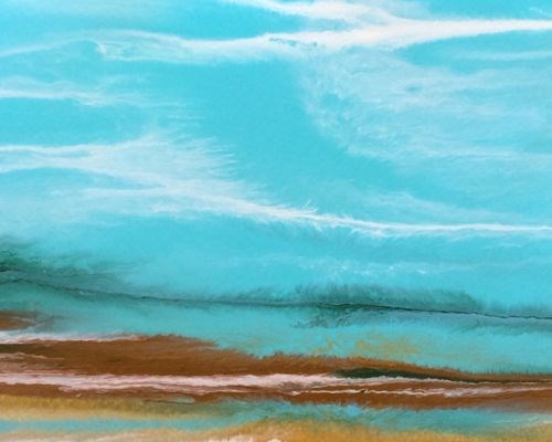 """Abstract Seascape Painting Tropical Dreams-Study #2 by Colorado Contemporary Artist Kimberly Conra"" original fine art by Kimberly Conrad"