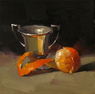 """Orange Dance --- Sold"" original fine art by Qiang Huang"