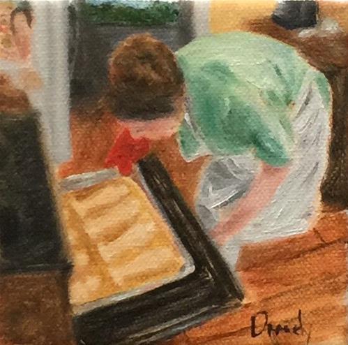 """""""Oscar Cookies II"""" original fine art by Stephanie Drawdy"""