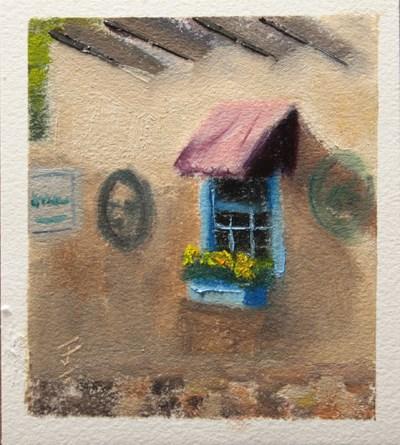 """Santa Fe Window"" original fine art by Jane Frederick"