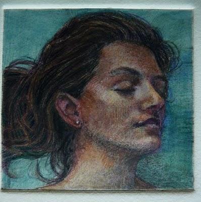 """Monotype: Slumber"" original fine art by Belinda Del Pesco"