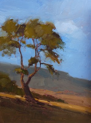 """Evening Tree Sketch"" original fine art by Laurel Daniel"