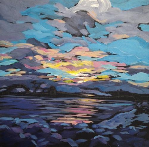 """Northern Winter Sunset"" original fine art by Kat Corrigan"