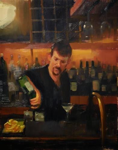 """Cheers"" original fine art by Kathy Weber"