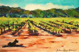 """Security Guard"" original fine art by JoAnne Perez Robinson"