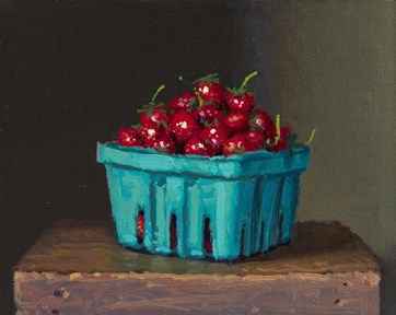 """Fresh-Picked Strawberries from Red Earth Farm"" original fine art by Abbey Ryan"