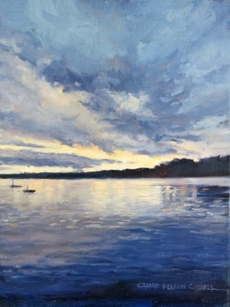 """'Evening Blues' An Original Oil Painting by Claire Beadon Carnell"" original fine art by Claire Beadon Carnell"