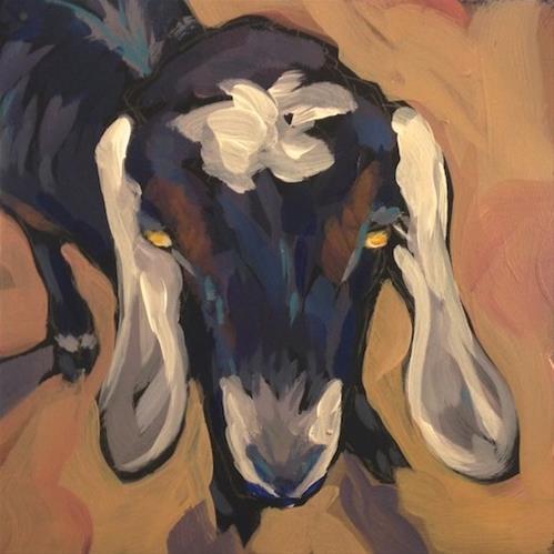 """""""Ear to Ear"""" original fine art by Kat Corrigan"""