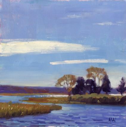 """Adamsville Landing, Westport"" original fine art by Kathy Weber"