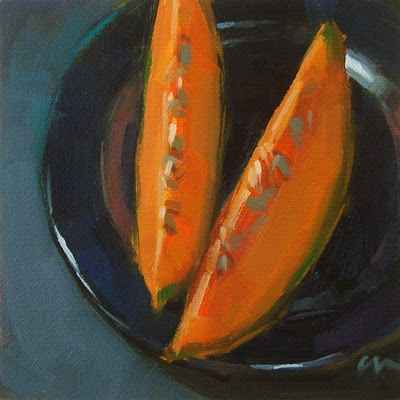 """Cantelope --- n/a"" original fine art by Carol Marine"