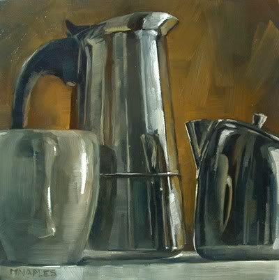"""Coffee Collection Reflections"" original fine art by Michael Naples"