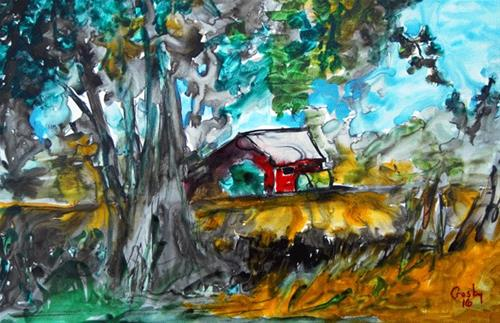 """Commerce Country Roads"" original fine art by Donna Crosby"