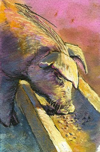 """Twenty Lashes"" original fine art by Lesley Spanos"