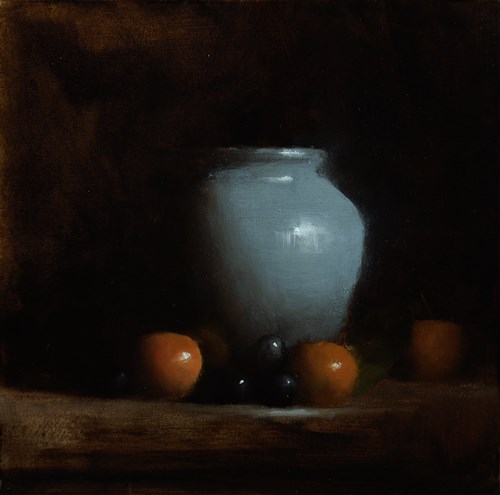 """Vase with Clementines"" original fine art by Neil Carroll"