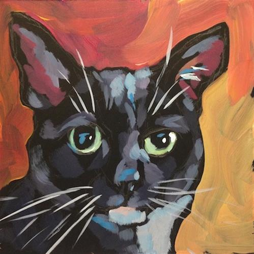 """March 12, Rescue Kitty!"" original fine art by Kat Corrigan"