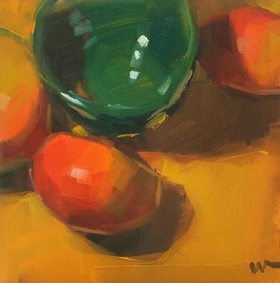 """Mango Fandango --- SOLD"" original fine art by Carol Marine"
