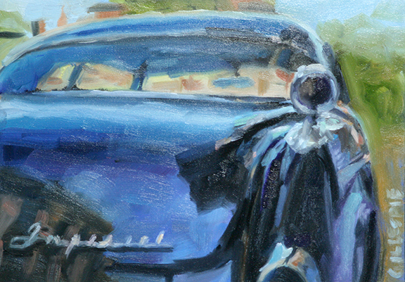 """Old Car in Florida"" original fine art by Catherine Gillespie"