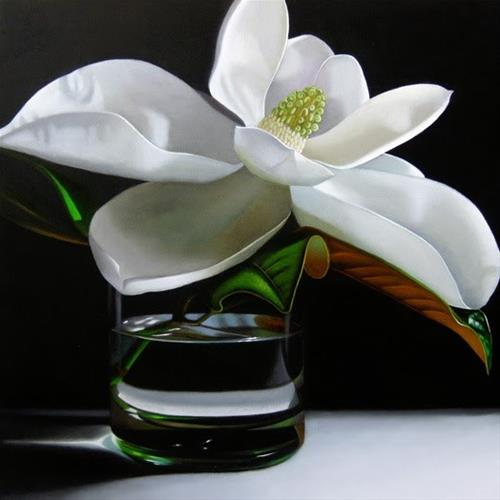"""Magnolia 12x12"" original fine art by M Collier"