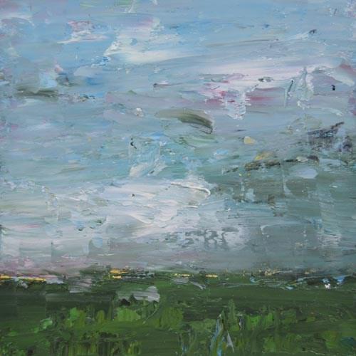"""Blue & Green Landscape Painting No 1"" original fine art by Katie Jeanne Wood"