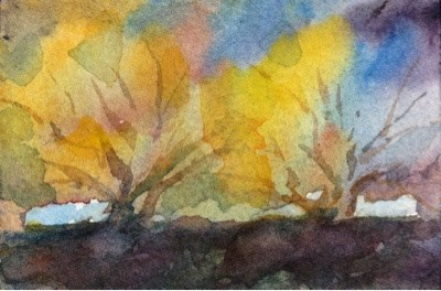 """Tiny Painting #4 - Grove"" original fine art by Lyn Gill"