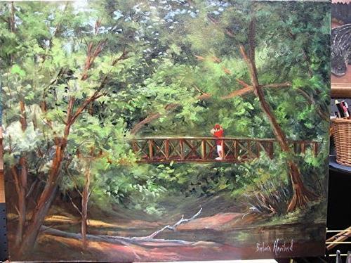 """""""Big Thicket Bird Watcher"""" original fine art by Barbara Haviland"""