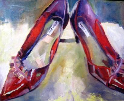 """Ruby Slippers"" original fine art by Scarlet Owl Studio"