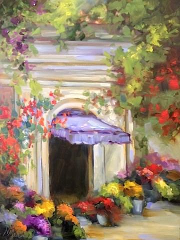 """Balboa California Flower Market by Texas Artist Nancy Medina"" original fine art by Nancy Medina"