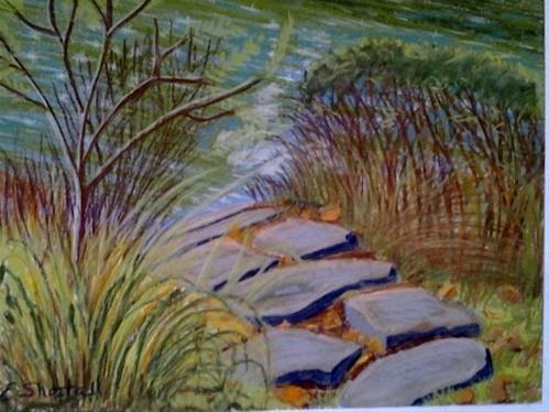 """Slate Path"" original fine art by Elaine Shortall"