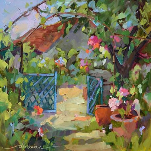 """Open Gate Policy"" original fine art by Dreama Tolle Perry"