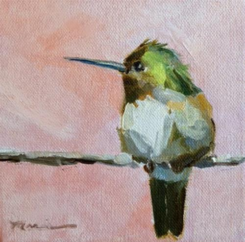 """I'm Coming Back"" original fine art by Marcia Hodges"