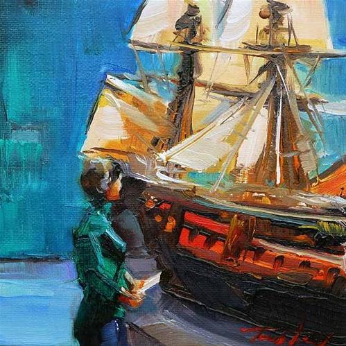 """Rijksmuseum Amsterdam"" original fine art by Jurij Frey"
