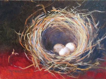 """""""TINY NEST 2 An Original Oil Painting by Claire Beadon Carnell"""" original fine art by Claire Beadon Carnell"""