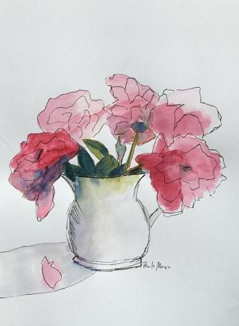 """""""Pink Peonies"""" original fine art by Pamela Munger"""