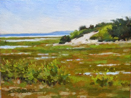 """""""'Low Tide' An Original Oil Painting by Claire Beadon Carnell 30 Paintings in 30 Days Challenge Day S"""" original fine art by Claire Beadon Carnell"""