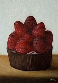 """Raspberry Mascarpone"" original fine art by Jonathan Aller"