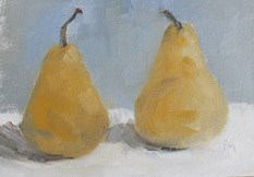 """Golden Pears"" original fine art by Pamela Munger"