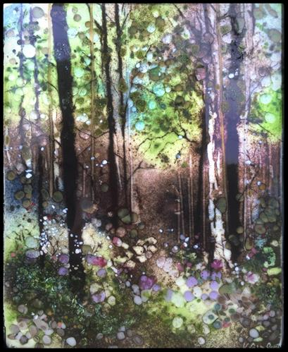 """Morning Light Forest Walk"" original fine art by Kelly Alge"