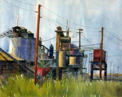 """""""Watercolor: Copper Mine"""" original fine art by Belinda Del Pesco"""