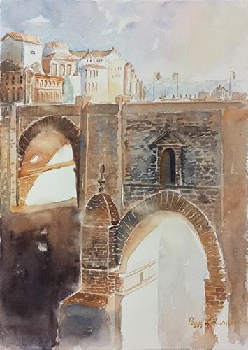 """Adventure in Spain"" original fine art by Peggy Bishop"