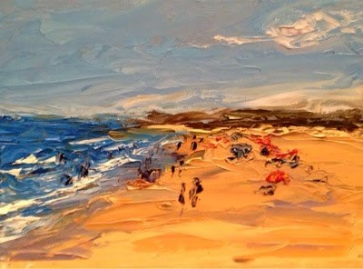 """Beach Days"" original fine art by Debra Kennedy"