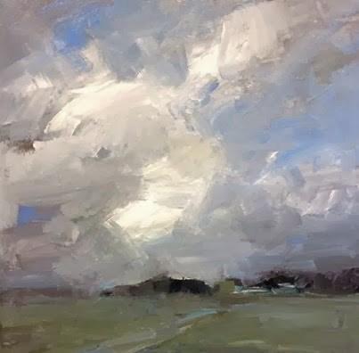 """""""Clouds over the farmlands"""" original fine art by Parastoo Ganjei"""