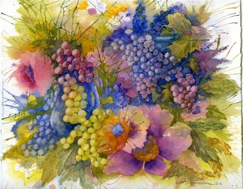 """Grapes!"" original fine art by Eileen Hennemann"