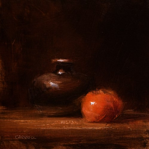 """Bud Vase with Clementine"" original fine art by Neil Carroll"