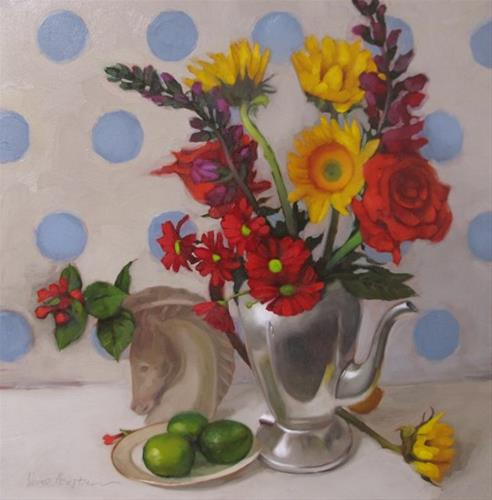 """Deco Still Life"" original fine art by Diane Hoeptner"