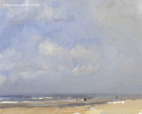 """Spacious beach - Seascape spring 8 (available) zeegezicht"" original fine art by Roos Schuring"