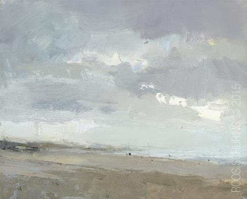 """Quiet Beach"" original fine art by Roos Schuring"