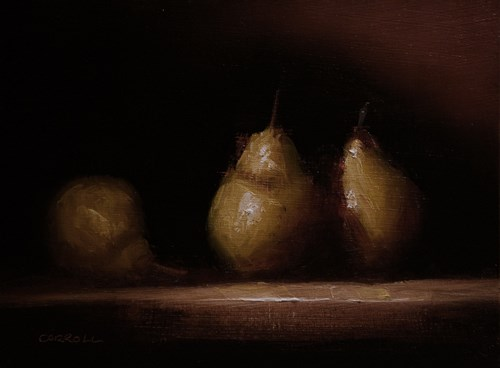 """Warm Pears"" original fine art by Neil Carroll"